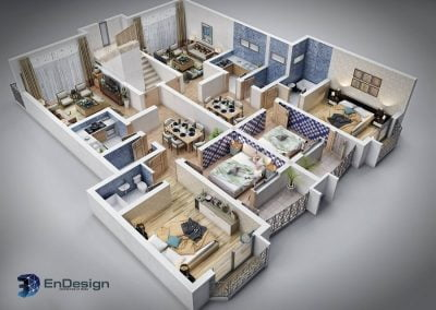 3D Apartment layout