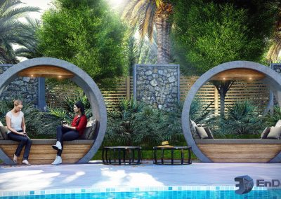 EnDesign - outdoor pool seating