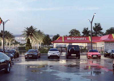 Mcdonalds parking lot rendering