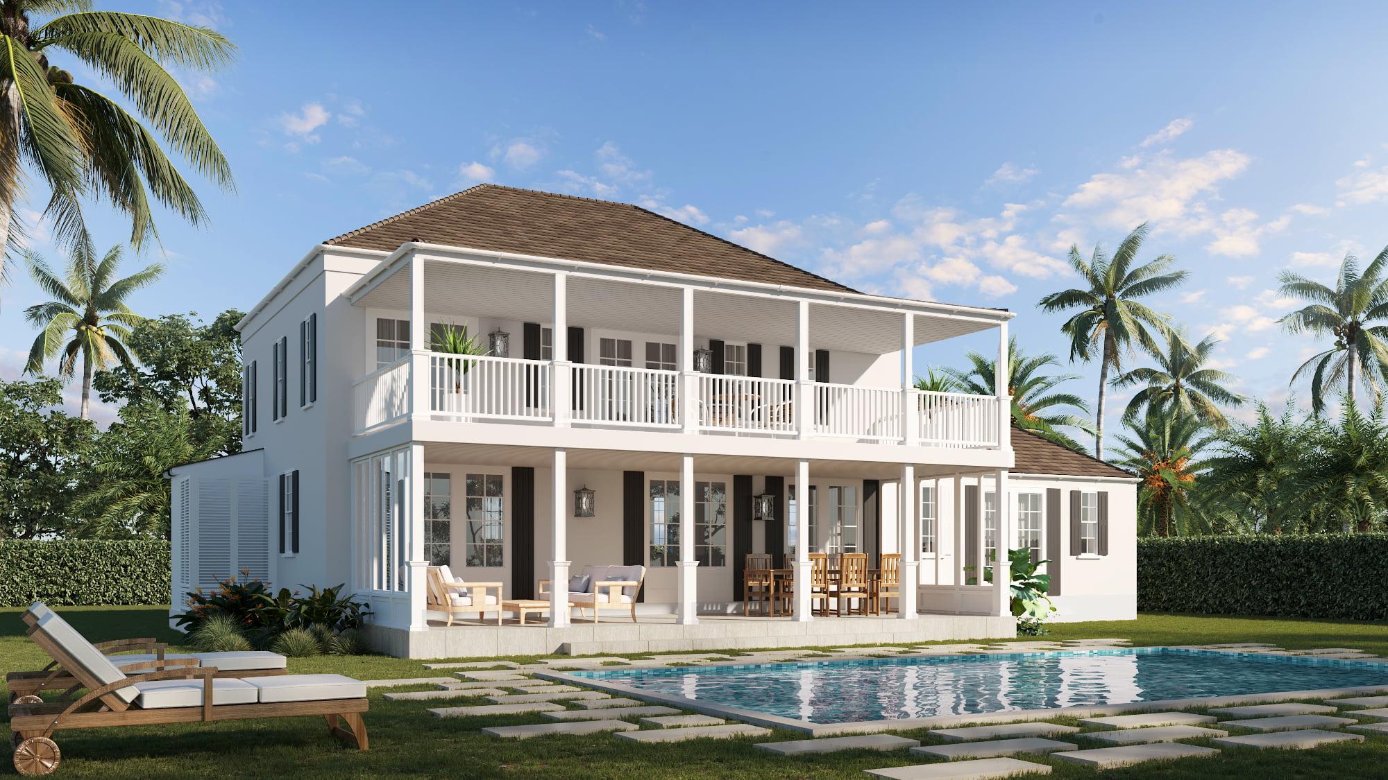 Sothebys Bahamas rear - 3D RENDERINGS